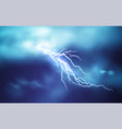 realistic lightning effect isolated on a dark blue vector image vector image