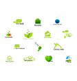 set of green logos vector image vector image