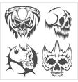 Skulls with tribal elements set vector image vector image