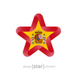 star with Spain flag colors and symbols vector image