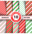 striped sweet line merry christmas pattern vector image