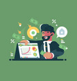 successful and rich trader vector image