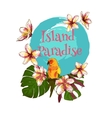 summer hand drawn floral vintage card vector image vector image