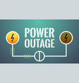 turned off electricity blackout concept vector image vector image