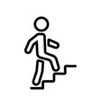upstairs man icon outline vector image vector image