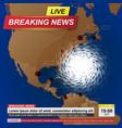 usa hurricane news background vector image