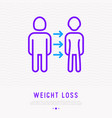 weight loss related to disease from normal to lean vector image vector image