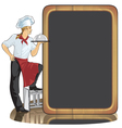 young man cook vector image vector image