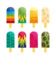 popsicle ice cream flat vector image