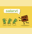 getting a paycheck and a joy vector image