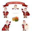 Set Santa Claus vector image