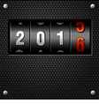 2016 New Year Analog Counter vector image vector image