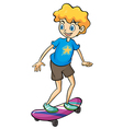 A boy playing skateboard vector image vector image