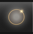 abstract luxury golden ring on transparent vector image vector image