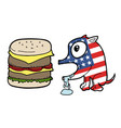 american burger dog vector image vector image