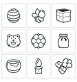 Apiary icons vector image vector image