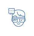 augmented reality vision glasses line icon concept vector image