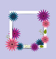 beautiful spring flowers icon vector image vector image