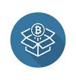 bitcoin block reward icon vector image vector image