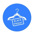 Black friday sale icon in black style isolated on vector image vector image