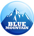 blue mountain vector image vector image