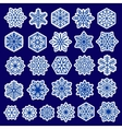Blue Snowflakes Set Stickers Design vector image vector image