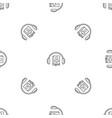 book listen pattern seamless vector image vector image