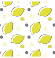 bright lemon pattern seamless pattern vector image vector image