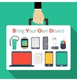 Byod Concept vector image