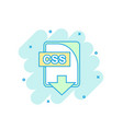 cartoon colored css file icon in comic style css vector image vector image