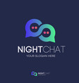 chat logo gradient style vector image vector image