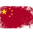 China grunge flag vector image