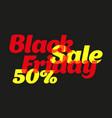 color banner black friday sale poster on a black vector image vector image