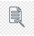 contract concept linear icon isolated on vector image vector image