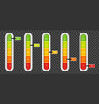 creative of level indicator vector image vector image