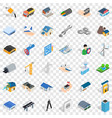 draw plan icons set isometric style vector image vector image