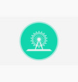 ferris wheel icon sign symbol vector image