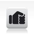 fist icon vector image vector image
