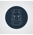 flat modern set of three hiking backpacks Three vector image