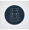 flat modern set three hiking backpacks three vector image