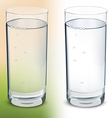 Glass with water isolated vector image vector image