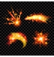 Glittering Stars Transparent Design Sparkling Sun vector image vector image