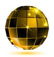 gold 3d futuristic sparkling object bright plastic vector image vector image