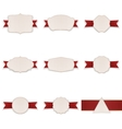 Greeting paper Banners with Ribbons Set vector image vector image