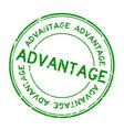 grunge green advantage wording round rubber seal
