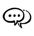 hand drawn speech bubbles doodle icon vector image