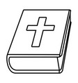 holy bible cartoon vector image