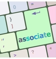 Keyboard with enter button associate word on it vector image vector image