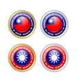 made in taiwan badges with taiwanese flag in vector image