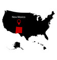 map of the us state of new mexico vector image vector image